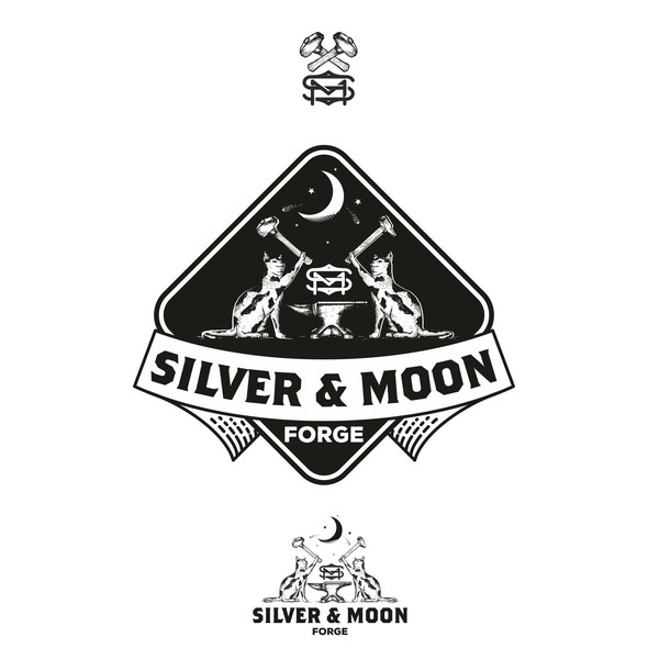 Forge logo with the title 'Silver & Moon logo'