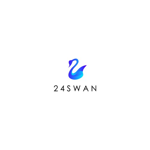 Swan design with the title 'Swan logo'