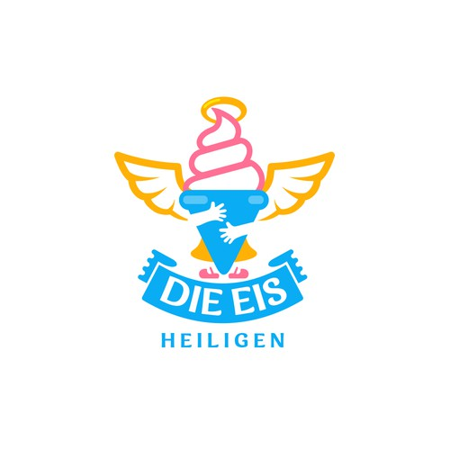 Nice logo with the title 'Logo for Ice cream'