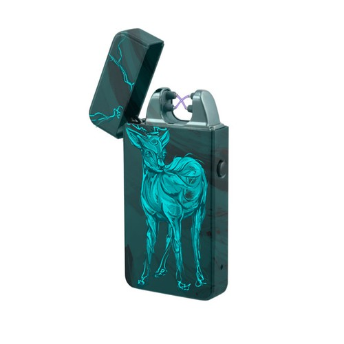 Neon design with the title 'Deer Plasma Lighter'