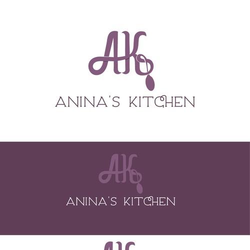 Violet logo with the title 'Logo design for a food blog'