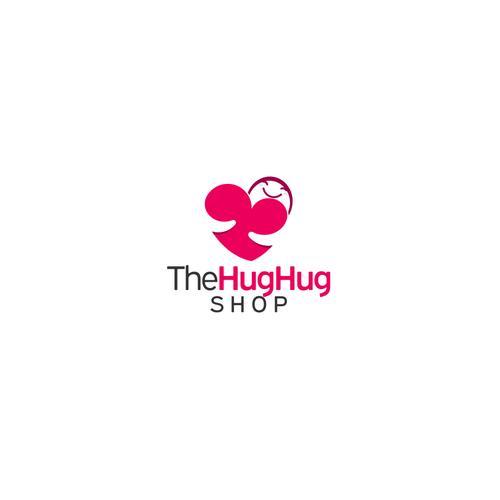 Adorable design with the title 'Hug logo for theHughug Shop'