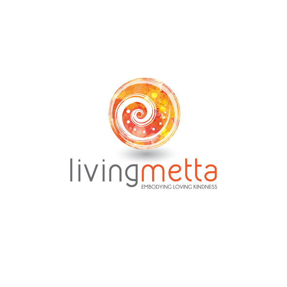 Massage logo with the title 'Living Metta'