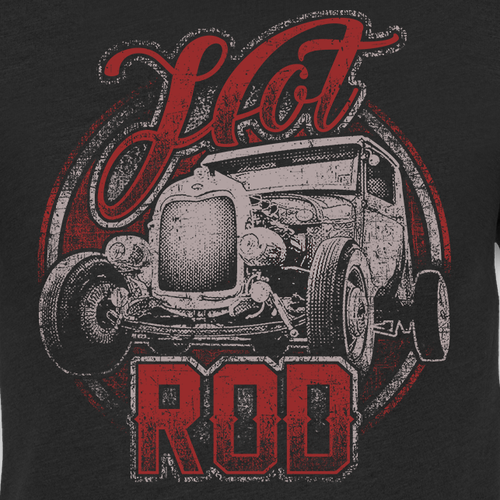 Old school t-shirt with the title 'Awesome Vintage Hot Rod T-shirt'