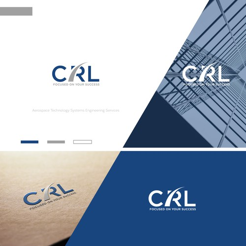 Engineering design with the title 'CRL LOGO DESIGN'