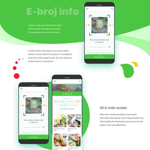 Barcode design with the title 'E-Broj info'