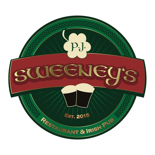 "Irish pub design with the title 'Logo Design for ""Sweeney's Irish Pub & Restaurant""'"