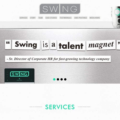 HTML5 website with the title 'WebDesign :: Swing Sketch2'