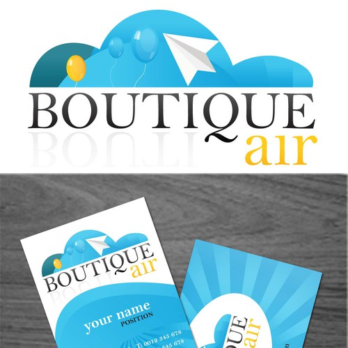 Atmosphere logo with the title 'Bold logo and Business Card'