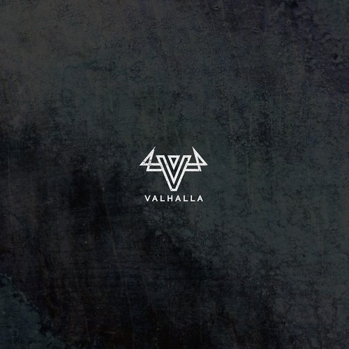Rugged logo with the title 'Valhalla'