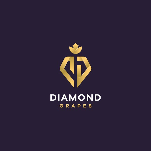 Grapevine logo with the title 'The iconic logo for a Diamond Grapes project'