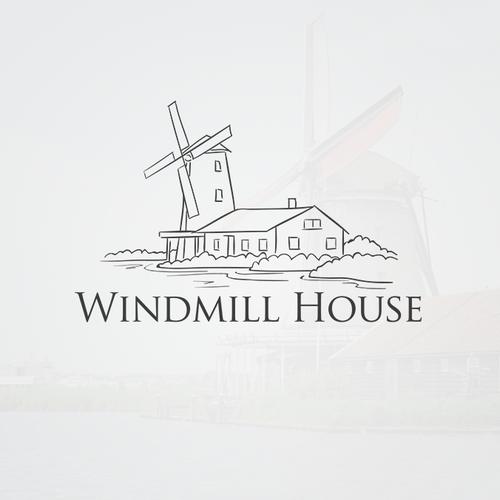 Riverside design with the title 'Logo Illustration'