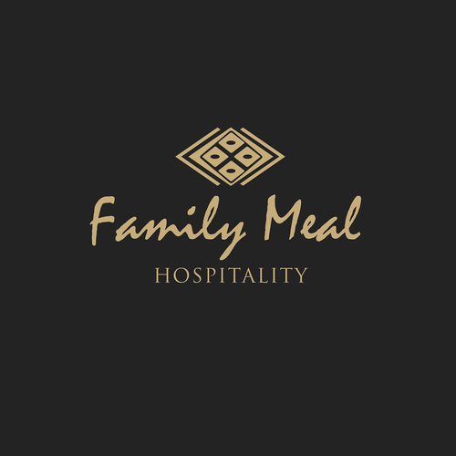 Marca logo with the title 'Family Meal Hospitality Logo'