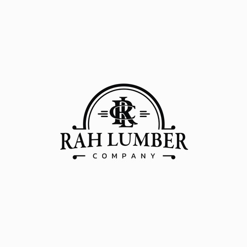 Lumberjack design with the title 'rah lumber'
