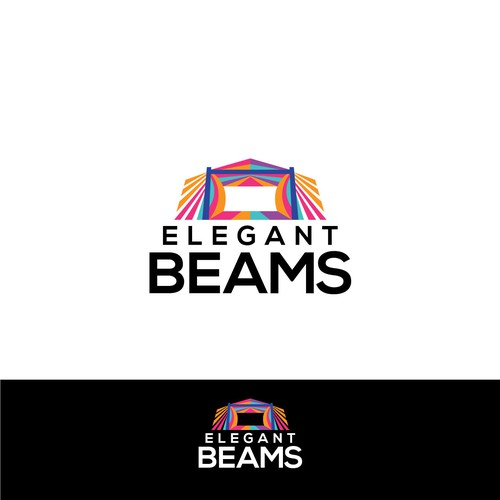 Stage design with the title 'Elegant beams'
