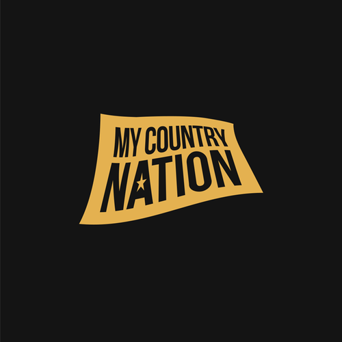 Country music design with the title 'Bold Country Music Logo for My Country Nation'