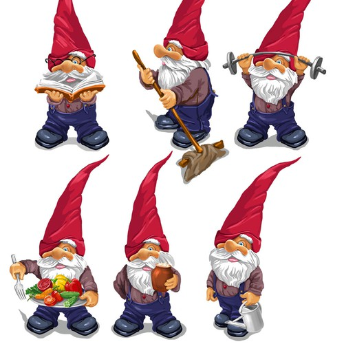 Gnome design with the title 'gnomes ARe real!'