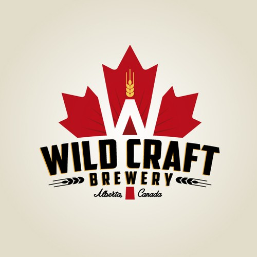 Canadian logo with the title 'Logo design for Canadian craft brewery'