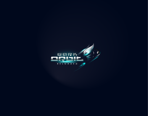 Futuristic logo with the title 'Dark Orbit'