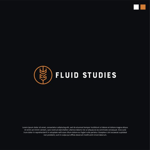 Alcohol brand with the title 'Logo design for Fluid Studies'