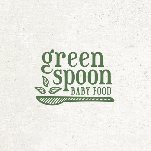 Spoon design with the title 'Baby Food Logo'