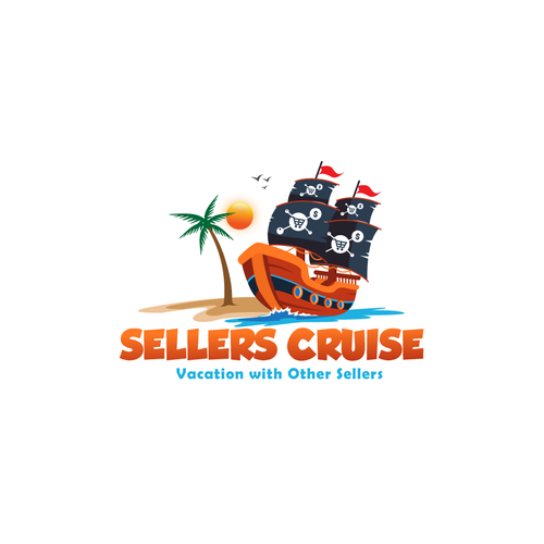 Pirate ship design with the title 'Sellers Cruise'