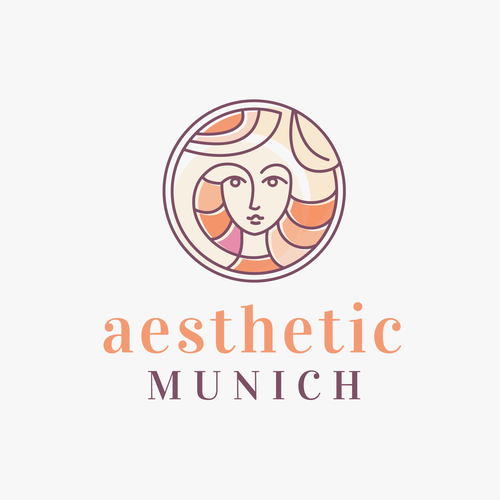 Warm design with the title ' Beauty Logo for aesthetic professional'