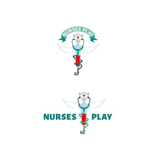 Nursing logo with the title 'Logo design for a private client.'