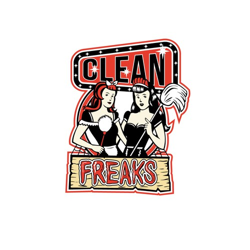 Cleaner design with the title 'Clean Freaks'