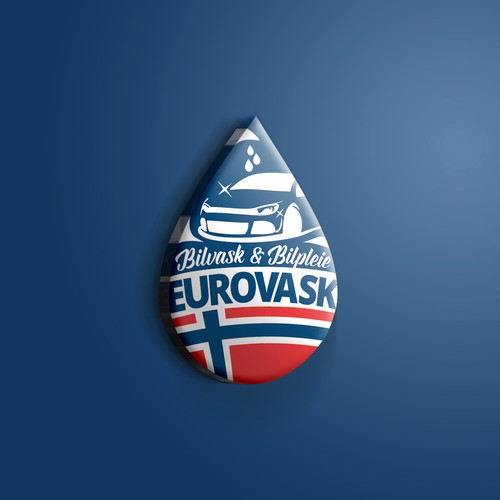 Carwash logo with the title 'Eurovask logo'