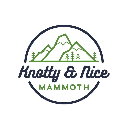 Mountain logo with the title 'Mountain logo design for a vacation rental property'