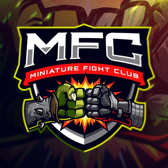 Playing card logo with the title 'Miniature Fight Club'