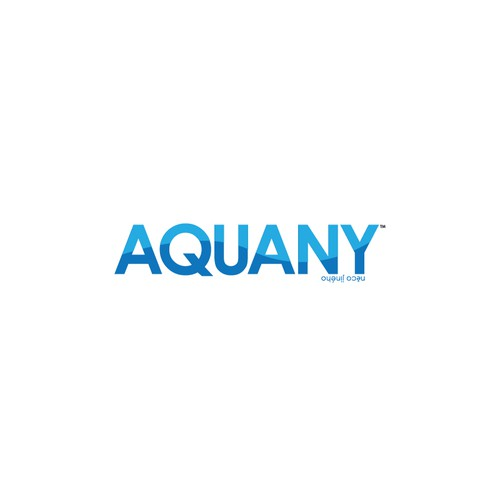 Aquatic logo with the title 'AQUANY Logo Design'