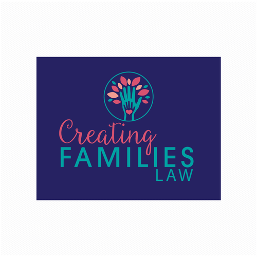 Childish logo with the title 'Creating Families Law'