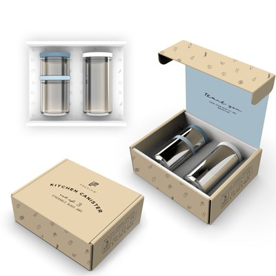 Eco-friendly packaging for the kitchen set