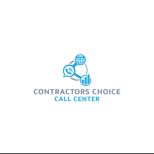 Contractor logo with the title 'Logo Concept for a Call Center Company'