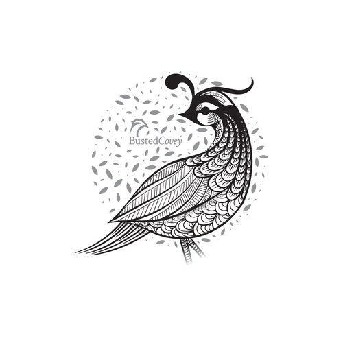 Quill design with the title 'Vector T-shirt illustration'