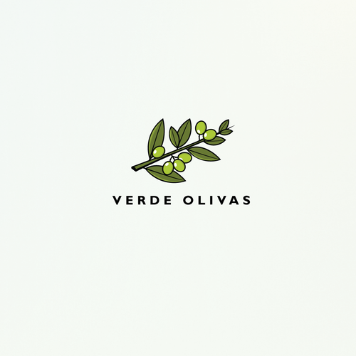 Olive oil logo with the title 'Olives'
