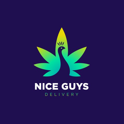 Delivery design with the title 'Creative logo for marijuana delivery.'