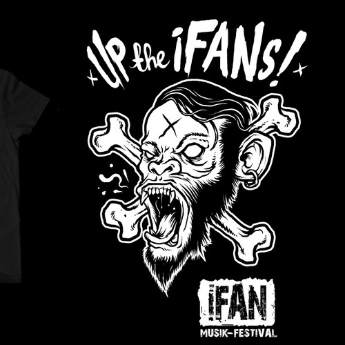 Punk design with the title 'iFAN MUSIK-FESTIVAL - FAN-SHIRT'