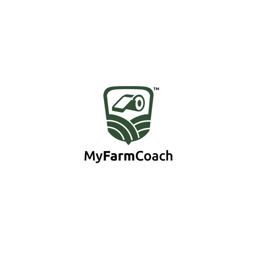 Whistle design with the title 'farmer coach!'