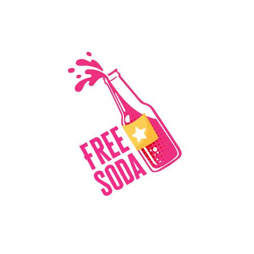 Soda logo with the title 'Free Soda Logo Design'