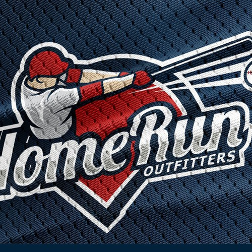 Baseball design with the title 'Home Run Outfitters'