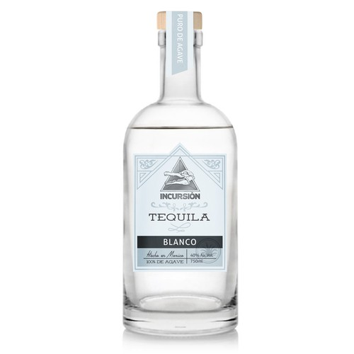 Agave design with the title 'Clean retro label for tequila'