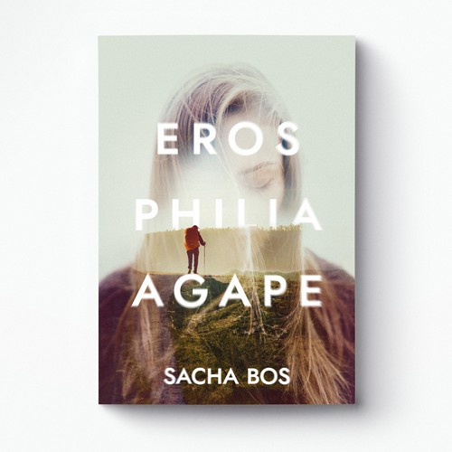 Striking design with the title 'Eros Philia Agape cover'