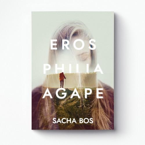 Striking design with the title 'Eros Philia Agape cover'