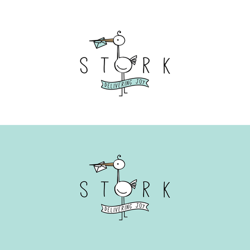 Joyous logo with the title 'Stork contest'
