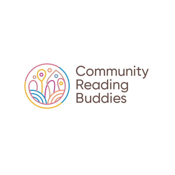Library design with the title 'Community Reading Buddies'