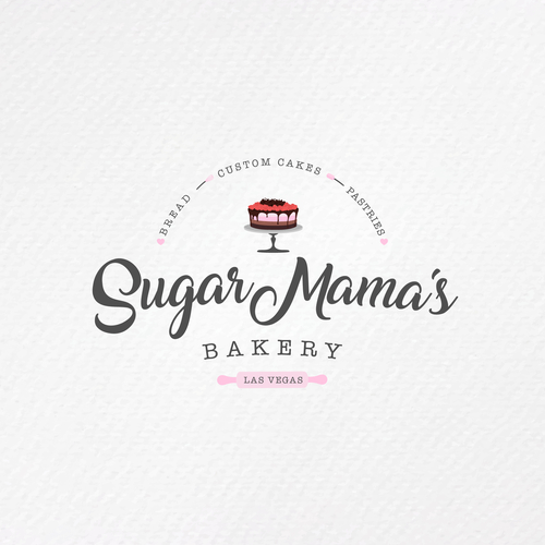 Caramel logo with the title 'Logo Sugar Mama's'