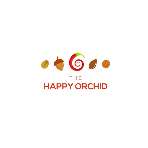 Orchid logo with the title 'Design an Organic logo for Nuts and Spices'